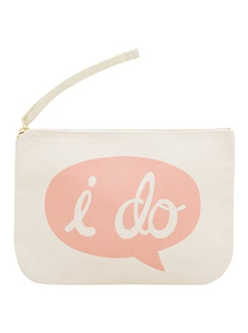 I Do Canvas Pouch | Wedding Clutch | Alphabet Bags