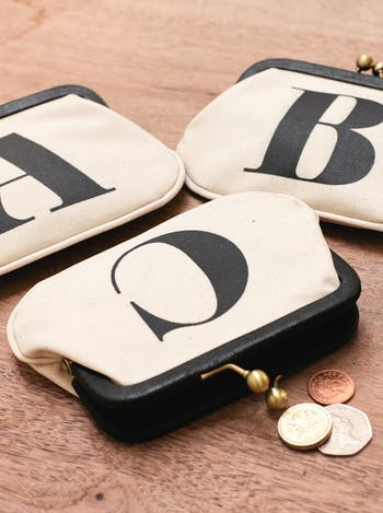 Personalised Initial Coin Purse | Personalised Bags & Purses | Alphabet Bags