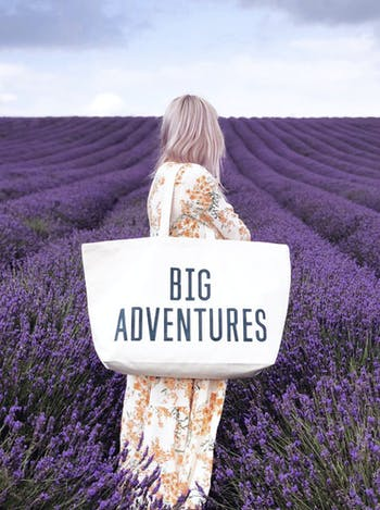BIG ADVENUTRES Really Big Bag | Slogan Totes | Alphabet Bags