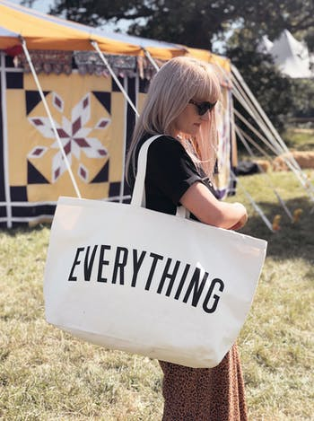 EVERYTHING Really Big Bag | Slogan Totes | Alphabet Bags