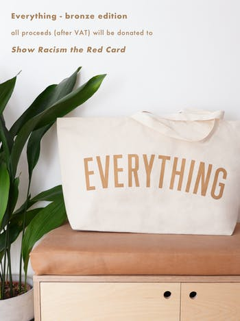 EVERYTHING Bronze Really Big Bag | Slogan Totes | Alphabet Bags