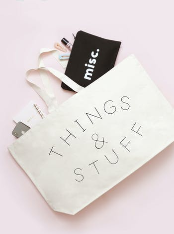 Things & Stuf Really Big Bag | Slogan Totes | Alphabet Bags