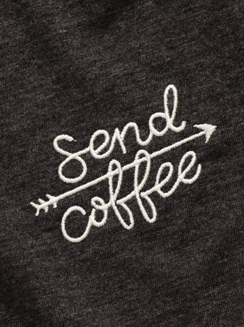 Send Coffee/Send Milk T-Shirt Set | Gifts For New Mums | Alphabet Bags