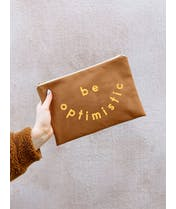 Be Optimistic - Tan Pouch
