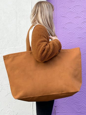 Tan Canvas Really Big Bag | Oversized Totes | Alphabet Bags