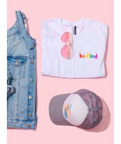Be Kind - Embroidered T-Shirt