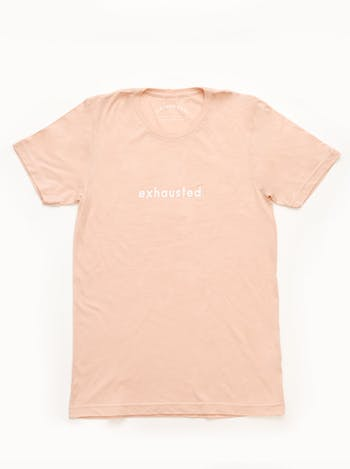Exhausted - Peach Unisex T-Shirt