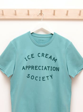Ice Cream Appreciation Unisex T-Shirt | Printed Slogan T-Shirt | Alphabet Bags