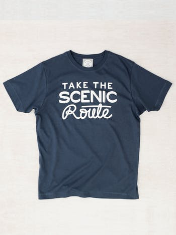 Take The Scenic Route Men's T Shirt | Printed T Shirts | Alphabet Bags