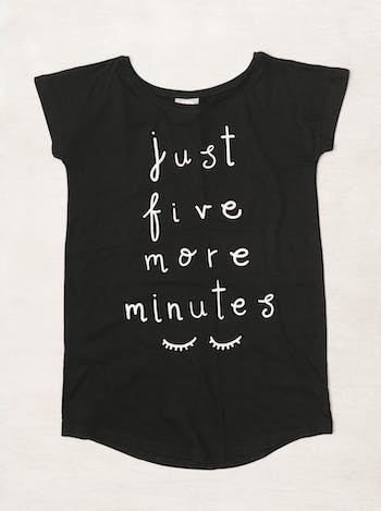 Just Five More Minutes Nightshirt | Nighties for Women | Alphabet Bags