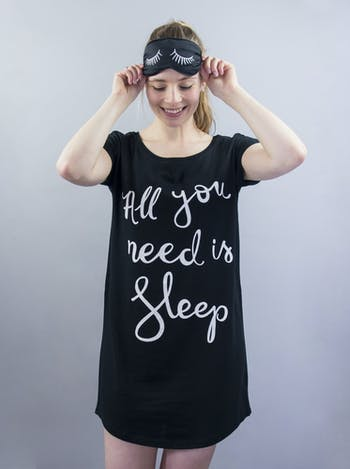All You Need Is Sleep Nightshirt | Nighties for Women | Alphabet Bags