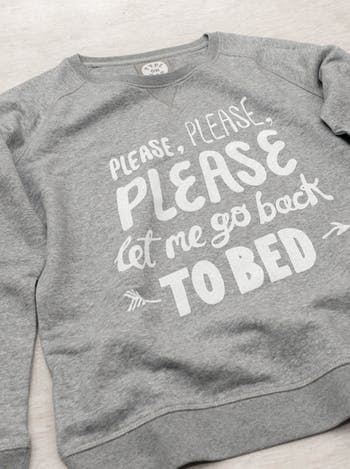 Back To Bed Sweatshirt | Womens Printed Sweatshirts | Alphabet Bags