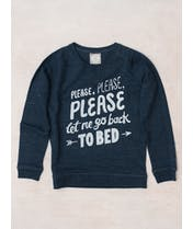 Let Me Go Back to Bed - Navy Sweatshirt