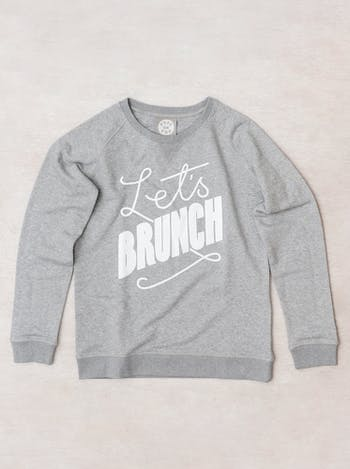 Let's Brunch Sweatshirt | Womens Slogan Jumpers | Alphabet Bags