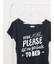 Back to Bed - Black Womens T-Shirt