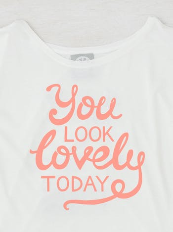 You Look Lovely Today T Shirt   Ladies Slogan T Shirt   Alphabet Bags