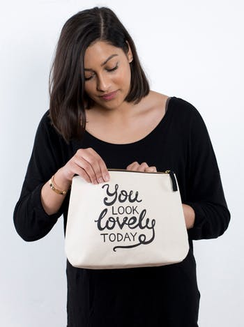 You Look Lovely Today   Ladies Cosmetics Bags   Alphabet Bags