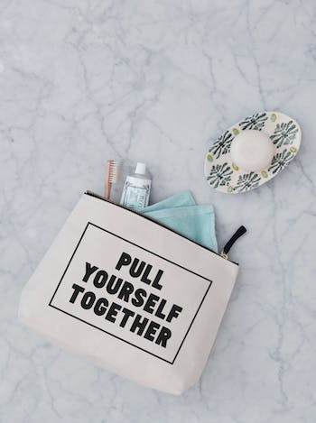 Pull Yourself Together Wash Bag | Large Cosmetics Bag | Alphabet Bags