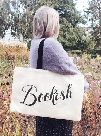 Bookish canvas tote Bag | Alphabet Bags