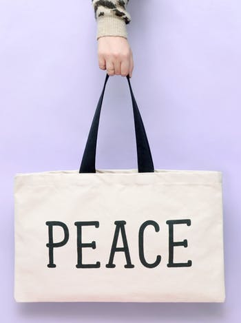 Peace canvas tote Bag | Alphabet Bags