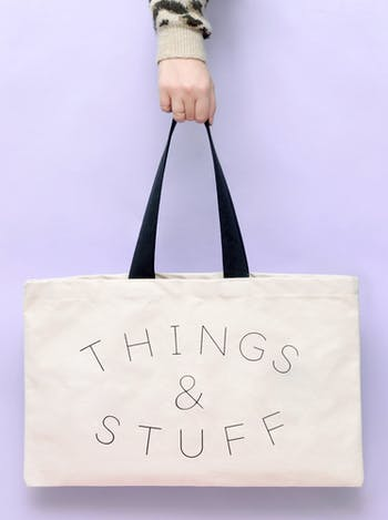 Things & Stuff canvas tote Bag | Alphabet Bags