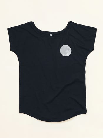 Moon Women's T-Shirt | Printed T-Shirt | Alphabet Bags