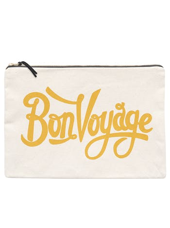 Bon Voyage XL Pouch | Document Holder | Alphabet Bags