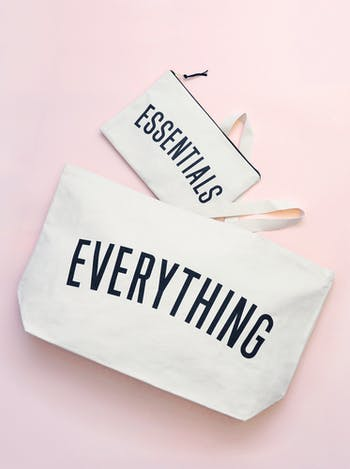 Essentials Extra Large Canvas Pouch   Nappy Pouch   Alphabet Bags