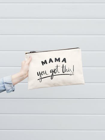 Mama, You Got This Canvas Pouch | Nappy Pouch | Alphabet Bags
