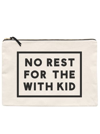 No Rest For The Withkid XL Pouch | Gifts For Mum | Alphabet Bags