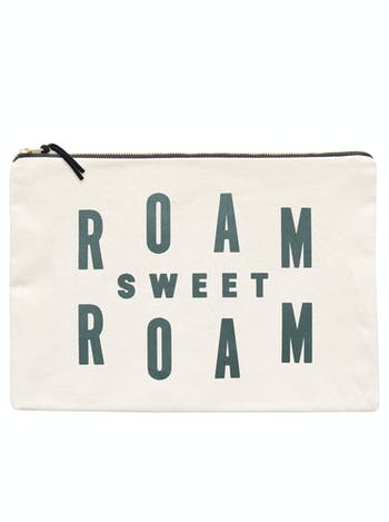 Roam Sweet Roam XL Pouch | Canvas Travel Wallet | Alphabet Bags