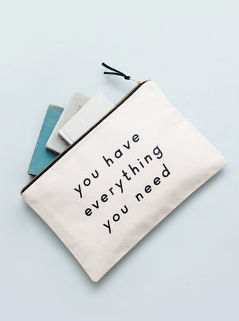 Everything You Need XL Pouch | Travel Pouch | Alphabet Bags