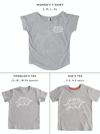 You Go Mama/Girl T-Shirt Set | Mother and Child Set | Alphabet Bags
