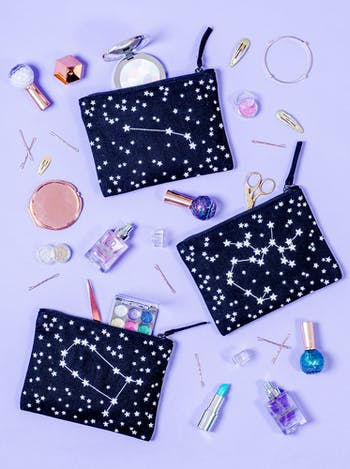 Zodiac Makeup Pouch | Birthday Gifts for Her | Alphabet Bags