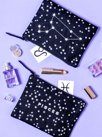 Starsign Cosmetics Bag | Personalised Birthday Gifts | Alphabet Bags